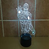 Недорогие Интеллектуальные огни-Lron man 3 d проекционный светильник сенсорный фонарь светодиодный акриловый визуальный свет