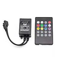 abordables Controladores RGB-controlador de música por infrarrojos de la noche 20 teclas controlador remoto del sensor de sonido IR para 5050 3528 5630 rgb tira de luz flexible
