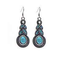 abordables Turquesa-Mujer Pendientes colgantes - Cristal Gota Colgante Azul Para Regalos de Navidad / Boda / Fiesta