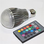5W E27 LED gömbbúrás izzók A60(A19) 1 Integrált LED 500 lm RGB Állítható Távvezérlésű Dekoratív AC 85-265 V 1 db.