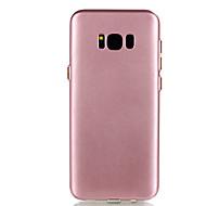 Недорогие Чехлы и кейсы для Galaxy S8 Plus-Кейс для Назначение SSamsung Galaxy S8 Plus S8 Покрытие Кейс на заднюю панель Сплошной цвет Мягкий ТПУ для S8 Plus S8 S7 edge S7