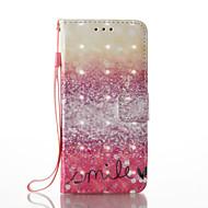 Кейс для Назначение SSamsung Galaxy A5(2017) A3(2017) Кошелек Бумажник для карт со стендом Флип С узором Чехол Градиент цвета Твердый