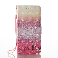 hoesje Voor Samsung Galaxy A5(2017) A3(2017) Portemonnee Kaarthouder met standaard Flip Patroon Volledige behuizing Kleurgradatie Hard