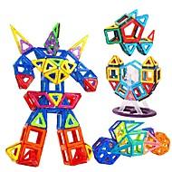 Χαμηλού Κόστους Παιχνίδια και Χόμπι-Τουβλάκια Μαγνητικά τουβλάκια Σετ μαγνητικά τουβλάκια Παιχνίδια Τετράγωνο Κυκλικό Triunghi 3D Δώρο Μαγνητική Πολυανθρακικό Παιδικά Αγόρια
