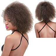 abordables Pelucas-Pelo sintético pelucas Afro Rizado Peluca afroamericana Entradas Naturales Sin Tapa Peluca de carnaval Peluca de Halloween Peluca natural