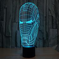 Недорогие Интеллектуальные огни-железный человек 3 d проекционной лампы привело акриловые сенсорный визуальный свет