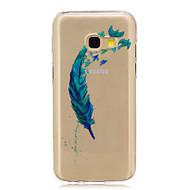 Недорогие Чехлы и кейсы для Galaxy A5(2017)-Кейс для Назначение SSamsung Galaxy A5(2017) / A3(2017) IMD / Прозрачный / С узором Кейс на заднюю панель  Перья Мягкий ТПУ для A3 (2017) / A5 (2017) / A5(2016)