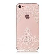Назначение iPhone X iPhone 8 Чехлы панели IMD Прозрачный С узором Задняя крышка Кейс для Кружева Печать Мягкий Термопластик для Apple