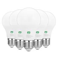 お買い得  LED ボール型電球-YWXLIGHT® 5個 9W 800-900lm E26 / E27 LEDボール型電球 18 LEDビーズ SMD 2835 装飾用 温白色 ホワイト 100-240V