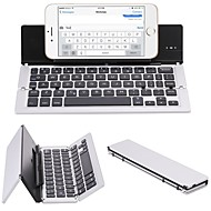 F18 Portable Ultra Thin Foldable Aluminum Alloy Bluetooth 3.0 Wireless Keyboard For Mobile Phone Tablet PC