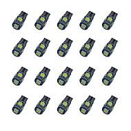 Недорогие Сигнальные огни для авто-T10 Автомобиль Лампы 1.8W W SMD 5050 58lm lm Лампа поворотного сигнала ForУниверсальный