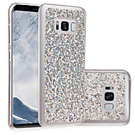 Недорогие Чехлы и кейсы для Galaxy S7-Кейс для Назначение SSamsung Galaxy S8 Plus S8 IMD Своими руками Кейс на заднюю панель Сияние и блеск Мягкий ТПУ для S8 Plus S8 S7 edge