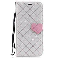 Недорогие Чехлы и кейсы для Galaxy S7 Edge-Кейс для Назначение SSamsung Galaxy S8 Plus S8 Покрытие Рельефный С узором Чехол Полосы / волосы С сердцем Твердый Искусственная кожа для