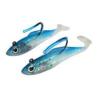 5 stk Zacht Aas Kunstaas Zacht Aas Blauw g/Ons mm duim,SiliconenZeevissen IJsvissen Draaiend Schuddend Vissen Zoetwater Vissen Andere