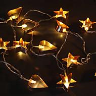 halpa LED-hehkulamput-1,5m 10leds 3w merkkijono valaistus akku lämmin valkoinen koriste koristeellinen valo