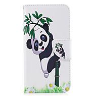 Для huawei p10 p9 lite чехол чехол panda рисунок pu материал карта stent кошелек телефон случай галактика 6x y5ii p8 lite (2017)