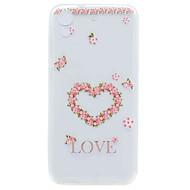 halpa Puhelimen kuoret-HTC Desire 626 suojus läpinäkyvä kuvio takakansi tapauksessa kukka pehmeä TPU