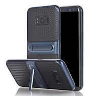 Недорогие Чехлы и кейсы для Galaxy A7(2017)-Кейс для Назначение SSamsung Galaxy A5(2017) A3(2017) со стендом Кейс на заднюю панель Сплошной цвет Твердый ТПУ для A3 (2017) A5 (2017)