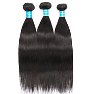 baratos -Cabelo Humano Ondulado Cabelo Brasileiro Retas 12 meses 3 Peças tece cabelo