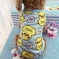 cheap Pet Supplies-Cat Dog Shirt / T-Shirt Vest Dog Clothes Casual/Daily Animal Blushing Pink Blue Duck