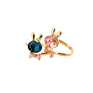 זול -בגדי ריקוד נשים טבעת סגסוגת מותאם אישית אופנתי Euramerican Fashion Ring תכשיטים אדום / כחול עבור חתונה Party יוֹם הַשָׁנָה יום הולדת מתכוונן