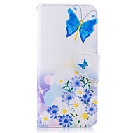 저렴한 -케이스 제품 Samsung Galaxy S8 Plus S8 카드 홀더 지갑 스탠드 플립 패턴 풀 바디 버터플라이 하드 인조 가죽 용 S8 S8 Plus