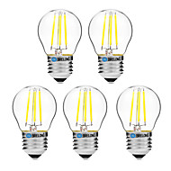 cheap LED Filament Bulbs-BRELONG® 5pcs 4W 300 lm E27 LED Filament Bulbs G45 4 leds COB Dimmable Warm White White AC 200-240V