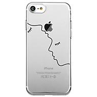 Назначение iPhone X iPhone 8 Чехлы панели Прозрачный С узором Задняя крышка Кейс для Полосы / волосы Геометрический рисунок Мультипликация