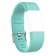 Недорогие Аксессуары для смарт-часов-Ремешок для часов для Fitbit Charge 2 Fitbit Спортивный ремешок Pезина Повязка на запястье