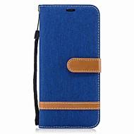 Кейс для Назначение SSamsung Galaxy S8 Plus S8 Кошелек Бумажник для карт со стендом Флип Чехол Сплошной цвет Твердый Текстиль для S8 S8