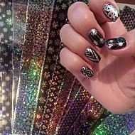 abordables Maquillaje y manicura-16 pcs Cinta de tela metálica arte de uñas Manicura pedicura Moda Diario / Cinta adhesiva