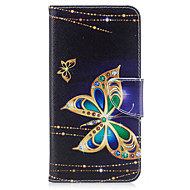 Назначение iPhone X iPhone 8 Чехлы панели Бумажник для карт Кошелек со стендом Флип С узором Чехол Кейс для Бабочка Твердый Искусственная