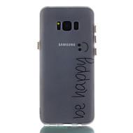 Для samsung galaxy s8 s8 плюс крышка корпуса будет счастливой узор окрашенный материал tpu светящийся корпус телефона s7 s7edge