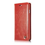 tanie Etui do iPhone-Dla iphone7 plus magnetyczne przypadki telefonu klapki dla iphone7 luksusowy prawdziwy portfel skórzany przypadku funda
