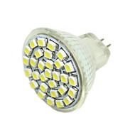 2W G4 GU4(MR11) GZ4 LED Spotlight MR11 30 SMD 3528 140-180lm Warm White 6000-7500K DC 12V