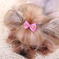 abordables Accesorios para Mascota-Accesorios para el Pelo Ropa para Perro Lazo Amarillo Fucsia Rojo Azul Rosa Tejido Disfraz Para mascotas Hombre Mujer Bonito