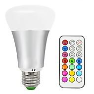 baratos Lâmpadas LED Inteligentes-1pç 10 W 700 lm E26 / E27 Lâmpada de LED Inteligente 16 Contas LED SMD 5050 Controle Remoto / Decorativa / Cores Gradiente Branco Quente / RGB 85-265 V / 1 pç / RoHs