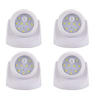お買い得  LED アイデアライト-4本 LEDナイトライト バッテリー Smart 人体センサ