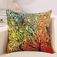 1 szt Cotton / Linen Pokrywa Pillow Poszewka na poduszkę,Liście drzew / Nowość ModnyVintage Na co dzień Retro Tradycyjny / Classic