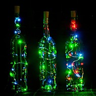 1PC 2m 20LED Cork Shaped LED Night Starry Light Copper Wire Stopper Wine Bottle Lamp Decoration Colorful