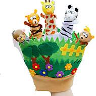 Dukker Fingerdukke Legetøj Kanin Dyr Dyr Barn Stk.
