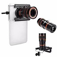 Universal hd 8x focagem ajustável telescópio óptico lente de câmera de telefone celular com clipe adequado para iphone e telefones Android