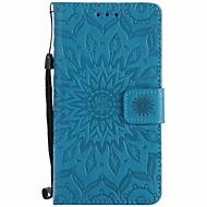 Til Sony xperia xz xa solsikker prægede pu telefon taske til m4 m2 z5 z4 mini xa ultra x xperformance e5 m5
