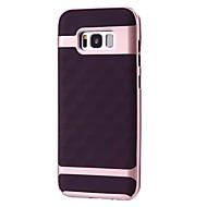 Недорогие Чехлы и кейсы для Galaxy S-Кейс для Назначение SSamsung Galaxy S8 Plus S8 Защита от удара Покрытие Матовое Кейс на заднюю панель Геометрический рисунок Мягкий ТПУ