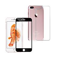 Недорогие Защитные плёнки для экрана iPhone-Защитная плёнка для экрана Apple для iPhone 7 Plus Закаленное стекло 1 ед. Защитная пленка для экрана и задней панели Против отпечатков