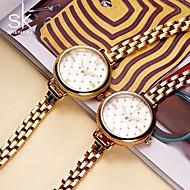 Недорогие Фирменные часы-Жен. Женские Модные часы Часы-браслет Китайский Кварцевый Защита от влаги Ударопрочный Металл Группа Кулоны В полоску Роскошь Винтаж
