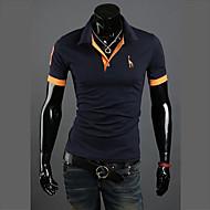hesapli En Çok Satanlar-Erkek Pamuklu Gömlek Yaka İnce - Polo Solid Actif Büyük Bedenler / Kısa Kollu