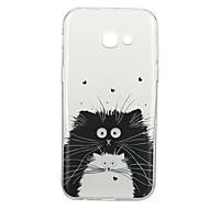 Недорогие Чехлы и кейсы для Galaxy A3(2017)-Кейс для Назначение SSamsung Galaxy A5(2017) A3(2017) С узором Кейс на заднюю панель Кот Животное Мягкий ТПУ для A3 (2017) A5 (2017)