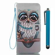 Недорогие Чехлы и кейсы для Galaxy S8 Plus-Кейс для Назначение SSamsung Galaxy S8 Plus S8 Бумажник для карт Кошелек со стендом Флип С узором Чехол Сова Твердый Кожа PU для S8 Plus