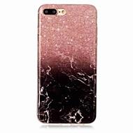Kompatibilitás iPhone X iPhone 8 tokok IMD Hátlap Case Márvány Puha Hőre lágyuló poliuretán mert Apple iPhone X iPhone 8 Plus iPhone 8